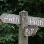 Are you on the right track... integrity... compass... conscience. Is there such a thing as a path?