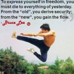 Being free to be yourself... feeling free to be yourself...