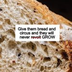 What does the 99% do that the 1% doesn't? Bread and circus